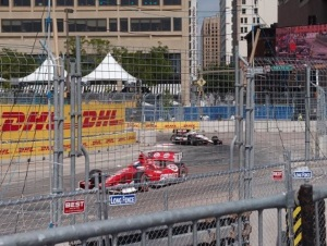 Scott Dixon (eventual polesitter) followed by Will Power