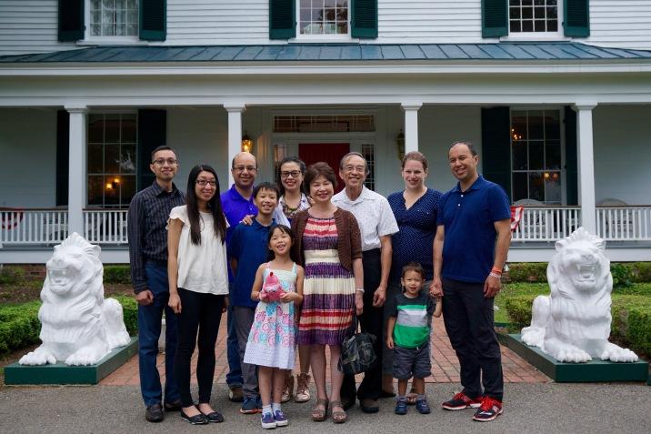 Family dinner at Oak Tree Tavern