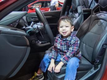 Oliver felt racy in a Cadillac ATS-V